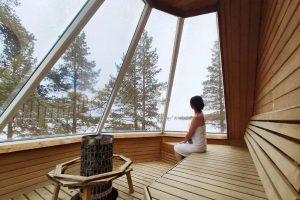 Sauna panorámica Wilderness Hotel Inari