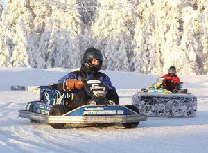 kart y minimotos en Laponia