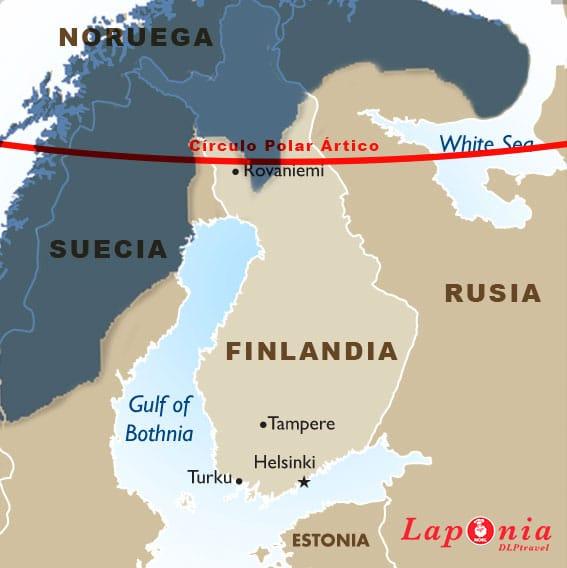 Dónde está Laponia - mapa