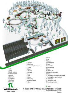 mapa zoo ártico Ranua