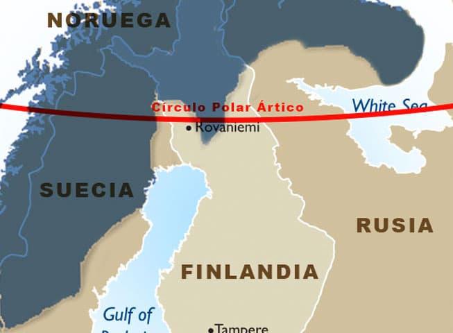 Mapa Laponia