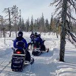 Motos de nieve - Navidad en Salla - dia 2