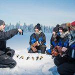 Pesca en hielo - Navidad en Salla - dia 4