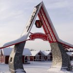 Entrada a Santa Claus Holiday Village