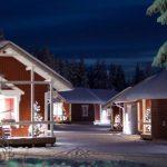 Ambiente en Santa Claus Holiday Village