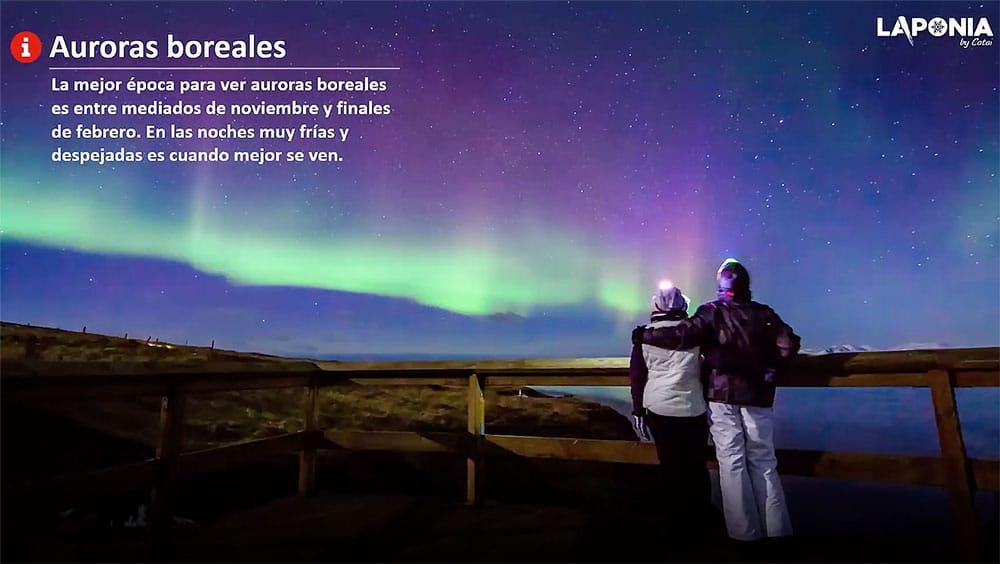 Auroras Boreales - Navidad 2021 en Laponia