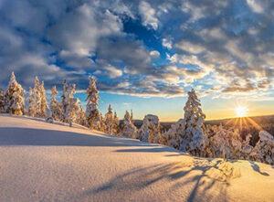 Amanecer en Laponia